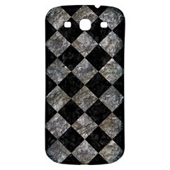 Square2 Black Marble & Gray Stone Samsung Galaxy S3 S Iii Classic Hardshell Back Case