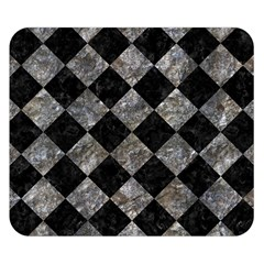 Square2 Black Marble & Gray Stone Double Sided Flano Blanket (small)
