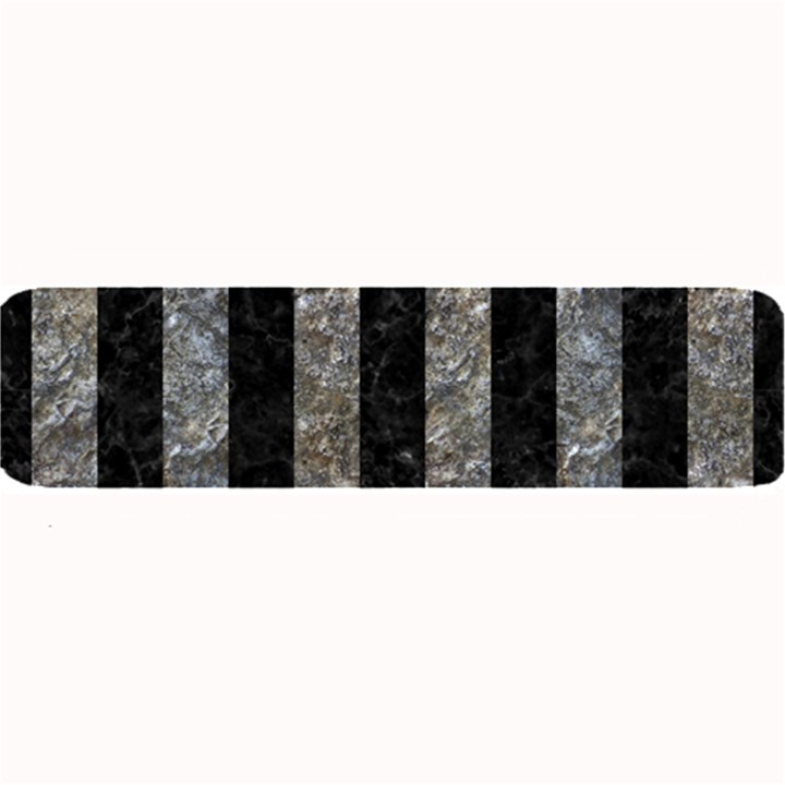 STRIPES1 BLACK MARBLE & GRAY STONE Large Bar Mats