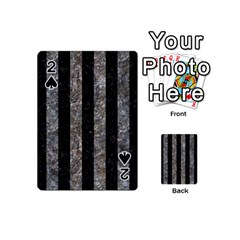Stripes1 Black Marble & Gray Stone Playing Cards 54 (mini)