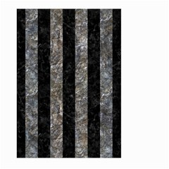 Stripes1 Black Marble & Gray Stone Large Garden Flag (two Sides)