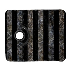 Stripes1 Black Marble & Gray Stone Galaxy S3 (flip/folio)