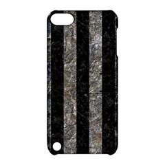 Stripes1 Black Marble & Gray Stone Apple Ipod Touch 5 Hardshell Case With Stand