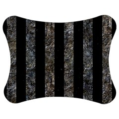 Stripes1 Black Marble & Gray Stone Jigsaw Puzzle Photo Stand (bow)