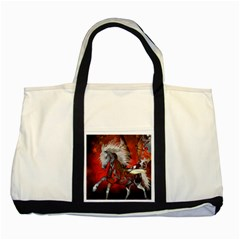 Awesome Steampunk Horse With Wings Two Tone Tote Bag
