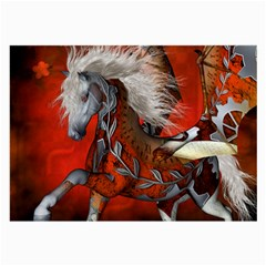 Awesome Steampunk Horse With Wings Large Glasses Cloth