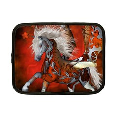 Awesome Steampunk Horse With Wings Netbook Case (small)