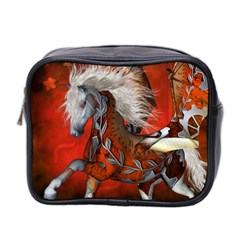 Awesome Steampunk Horse With Wings Mini Toiletries Bag 2 Side