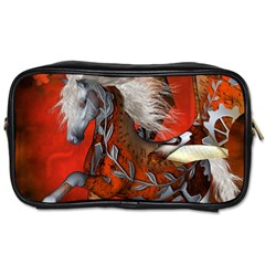 Awesome Steampunk Horse With Wings Toiletries Bags 2 Side