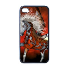 Awesome Steampunk Horse With Wings Apple Iphone 4 Case (black)