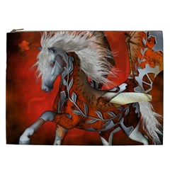 Awesome Steampunk Horse With Wings Cosmetic Bag (xxl)