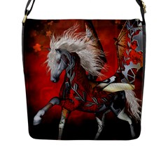 Awesome Steampunk Horse With Wings Flap Messenger Bag (l)
