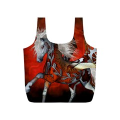 Awesome Steampunk Horse With Wings Full Print Recycle Bags (s)