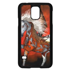 Awesome Steampunk Horse With Wings Samsung Galaxy S5 Case (black)