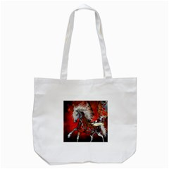 Awesome Steampunk Horse With Wings Tote Bag (white)