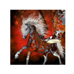 Awesome Steampunk Horse With Wings Small Satin Scarf (square)