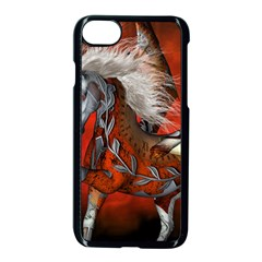 Awesome Steampunk Horse With Wings Apple Iphone 7 Seamless Case (black)
