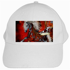 Awesome Steampunk Horse With Wings White Cap