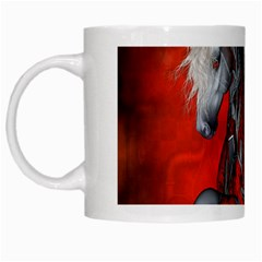 Awesome Steampunk Horse With Wings White Mugs