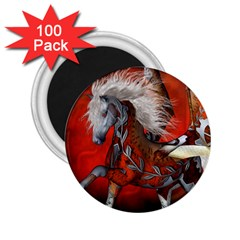 Awesome Steampunk Horse With Wings 2 25  Magnets (100 Pack)