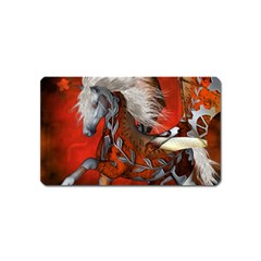 Awesome Steampunk Horse With Wings Magnet (name Card)
