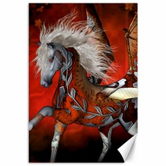 Awesome Steampunk Horse With Wings Canvas 12  X 18