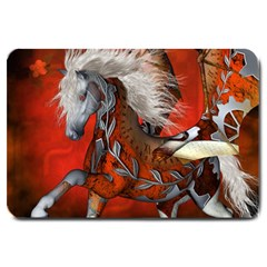 Awesome Steampunk Horse With Wings Large Doormat