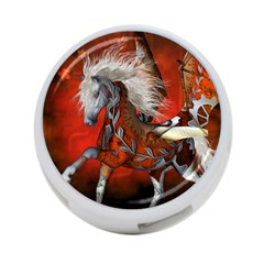 Awesome Steampunk Horse With Wings 4 Port Usb Hub (one Side)