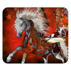 Awesome Steampunk Horse With Wings Double Sided Flano Blanket (small)