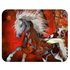 Awesome Steampunk Horse With Wings Double Sided Flano Blanket (medium)