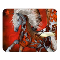 Awesome Steampunk Horse With Wings Double Sided Flano Blanket (large)