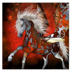 Awesome Steampunk Horse With Wings Large Satin Scarf (square)