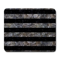Stripes2 Black Marble & Gray Stone Large Mousepads