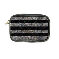 Stripes2 Black Marble & Gray Stone Coin Purse