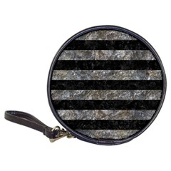 Stripes2 Black Marble & Gray Stone Classic 20 Cd Wallets