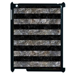 Stripes2 Black Marble & Gray Stone Apple Ipad 2 Case (black)
