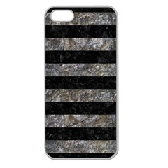 Stripes2 Black Marble & Gray Stone Apple Seamless Iphone 5 Case (clear)