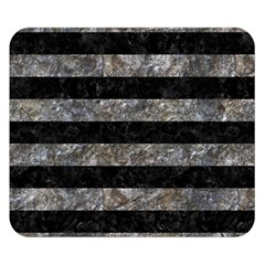 Stripes2 Black Marble & Gray Stone Double Sided Flano Blanket (small)