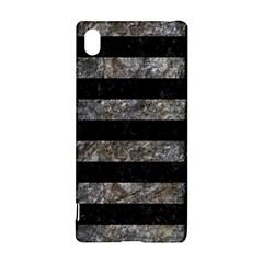 Stripes2 Black Marble & Gray Stone Sony Xperia Z3+