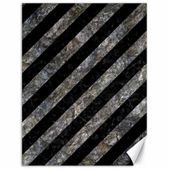 Stripes3 Black Marble & Gray Stone Canvas 18  X 24