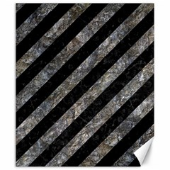 Stripes3 Black Marble & Gray Stone Canvas 20  X 24