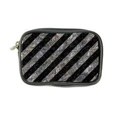 Stripes3 Black Marble & Gray Stone Coin Purse