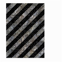 Stripes3 Black Marble & Gray Stone Large Garden Flag (two Sides)