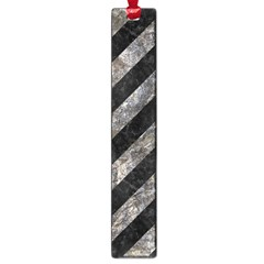 Stripes3 Black Marble & Gray Stone Large Book Marks
