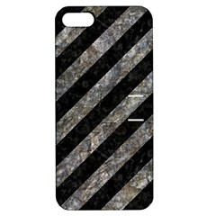 Stripes3 Black Marble & Gray Stone Apple Iphone 5 Hardshell Case With Stand