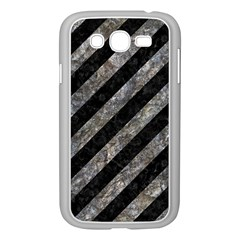 Stripes3 Black Marble & Gray Stone Samsung Galaxy Grand Duos I9082 Case (white)