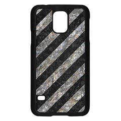 Stripes3 Black Marble & Gray Stone Samsung Galaxy S5 Case (black)