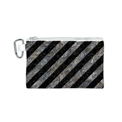Stripes3 Black Marble & Gray Stone Canvas Cosmetic Bag (s)