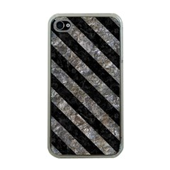 Stripes3 Black Marble & Gray Stone (r) Apple Iphone 4 Case (clear)