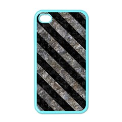 Stripes3 Black Marble & Gray Stone (r) Apple Iphone 4 Case (color)